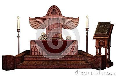 Fantasy winged altar