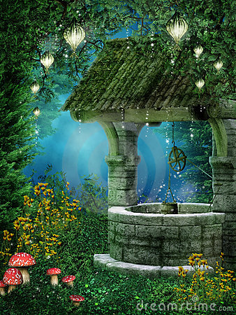 Fantasy Wishing Well Royalty Free Stock Images Image