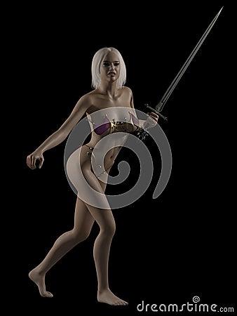 Fantasy Woman with Sword