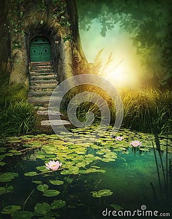 Free Fantasy Wood House Royalty Free Stock Photo - 85046555