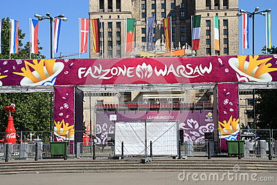 Fanzone 2012 del euro Fotografía editorial