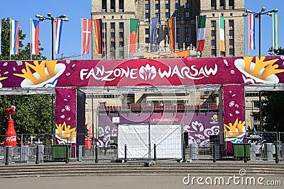 Fanzone 2012 dell euro Fotografia Editoriale