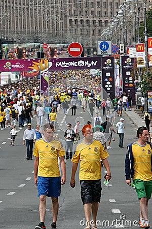 Fanzone in Kyiv Editorial Image