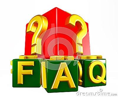 FAQ Blocks on white