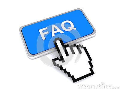 FAQ button and cursor hand