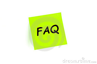 FAQ en una nota de post-it
