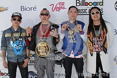 Far East Movement at the 2012 Billboard Music Awards Arrivals, MGM Grand, Las Vegas, NV 05-20-12 Editorial Photography