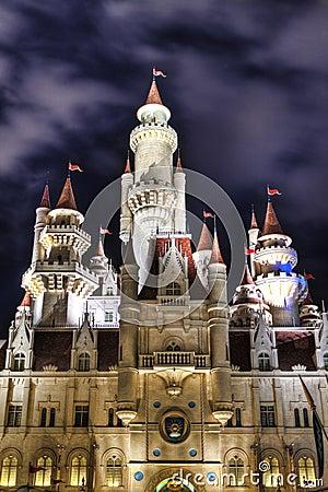 Far Far Away Castle at Universal Studios Singapore