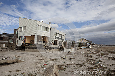 Far Rockaway after Hurricane Sandy Editorial Image