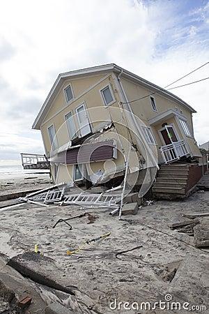 Far Rockaway after Hurricane Sandy Editorial Stock Photo