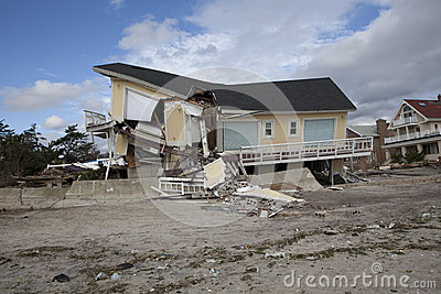 Far Rockaway after Hurricane Sandy Editorial Stock Photo