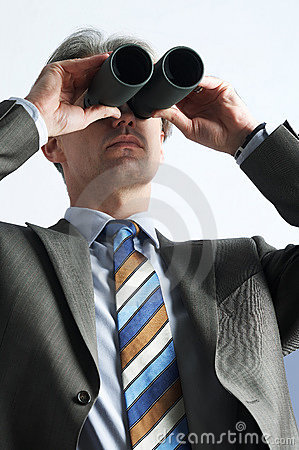 Far-seeing businessman
