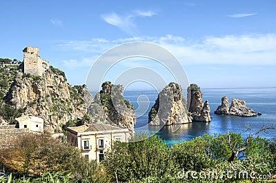 Faraglioni at Scopello, Sicily