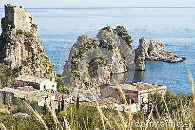 Faraglioni and Tonnara at Scopello, Sicily