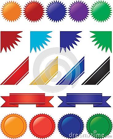 Farbbänder, Fahnen und Impulsansammlung