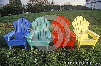 farbige adirondack st hle stockbilder bild 23148174. Black Bedroom Furniture Sets. Home Design Ideas