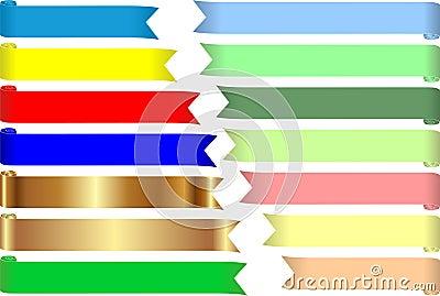 Farbige Bänder