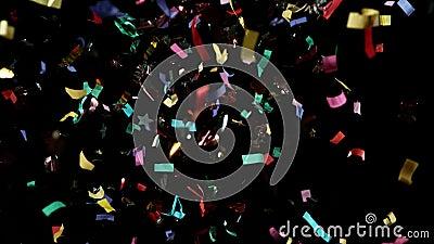 Farbiger Confetti Hintergrund in Super Slow Motion stock video