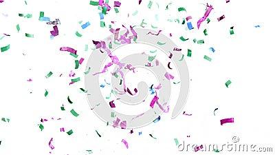 Farbiger Confetti Hintergrund in Super Slow Motion stock video footage