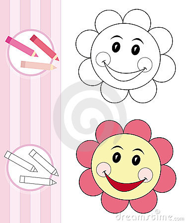 Farbtonbuchskizze: Blume