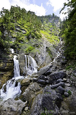 Free Farchant Waterfalls In Germany Stock Photography - 103879652