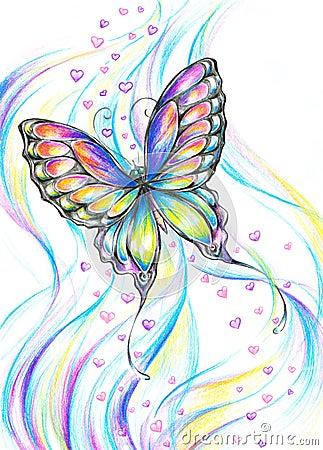 Farfalla di volo immagini stock libere da diritti for Foto farfalle colorate