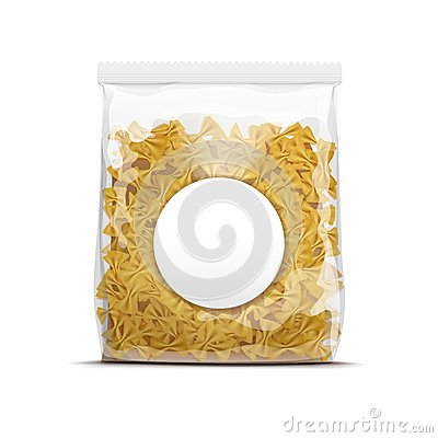 Free Farfalle Bow Tie Pasta Packaging Template Isolated Royalty Free Stock Photo - 46609225
