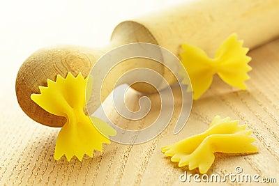 Farfalle, italian raw pasta