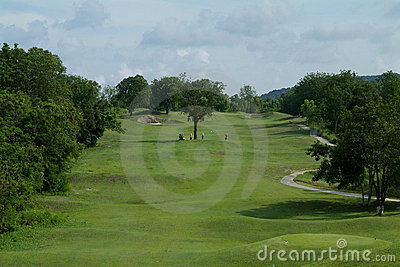 Farled fem golf hålpar