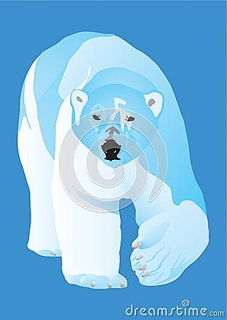 Farlig polar rovdjur för björn