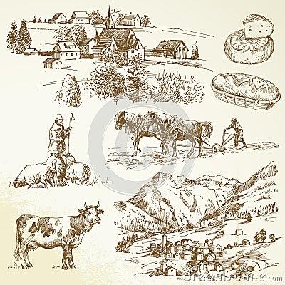 Farm, agricultural village