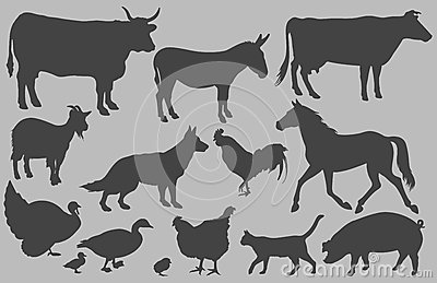 Farm Animal Silhouettes