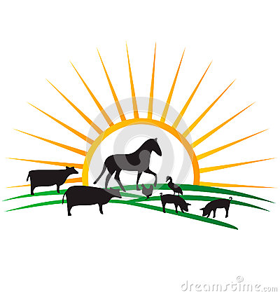 More similar stock images of ` Farm animal silhouettes logo `
