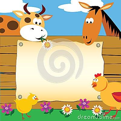Farm animals card
