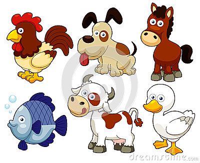 Farm animals cartoon
