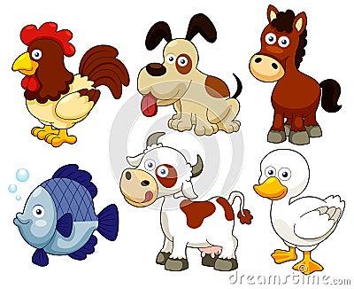 Farm animals cartoon