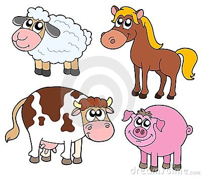 Farm Animals Collection Stock Photography - Image: 6067412