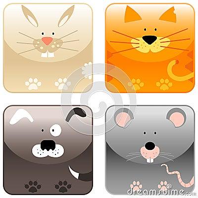 Farm animals - icon set 2
