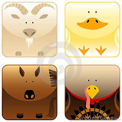 Farm animals - icon set 3