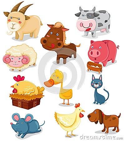 Free Farm Animals Set Royalty Free Stock Image - 14528286