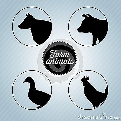 Farm animal head silhouettes - photo#23