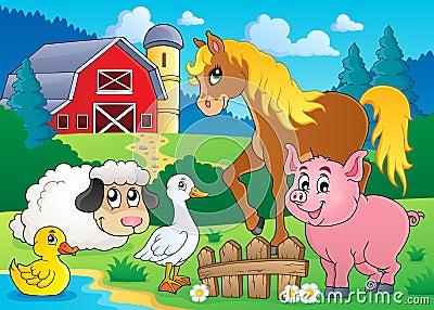 Farm animals theme image 5