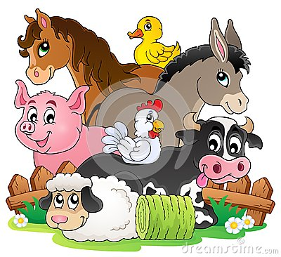 Free Farm Animals Topic Image 2 Royalty Free Stock Photo - 34413545