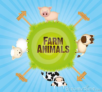 Farm animals in world