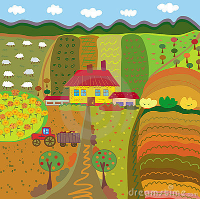Free Farm At The Autumn Stock Image - 14039031