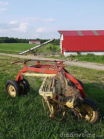 Farm: barn and thresher