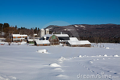 New Hampshire Farm in Winter