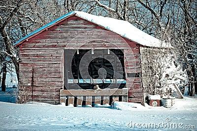 Farm Building in Winter