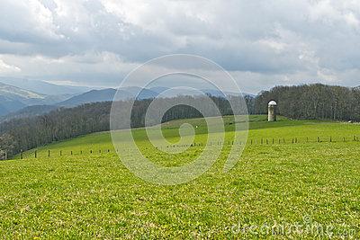 Farm on Cloudy Day