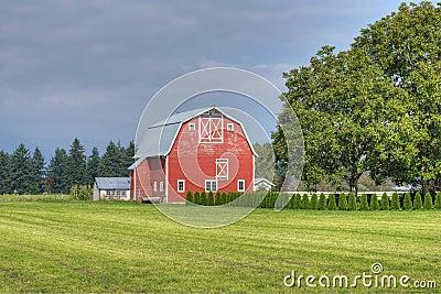 Farm Country Scene